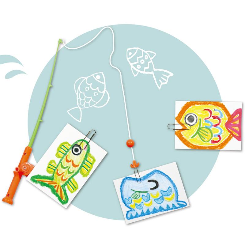 おえかきフィッシング 工作 図工 魚つり 魚釣り おもちゃ ゲーム 手作り ゲーム キッズ 子供 幼児 お絵かき クリスマスプレゼント
