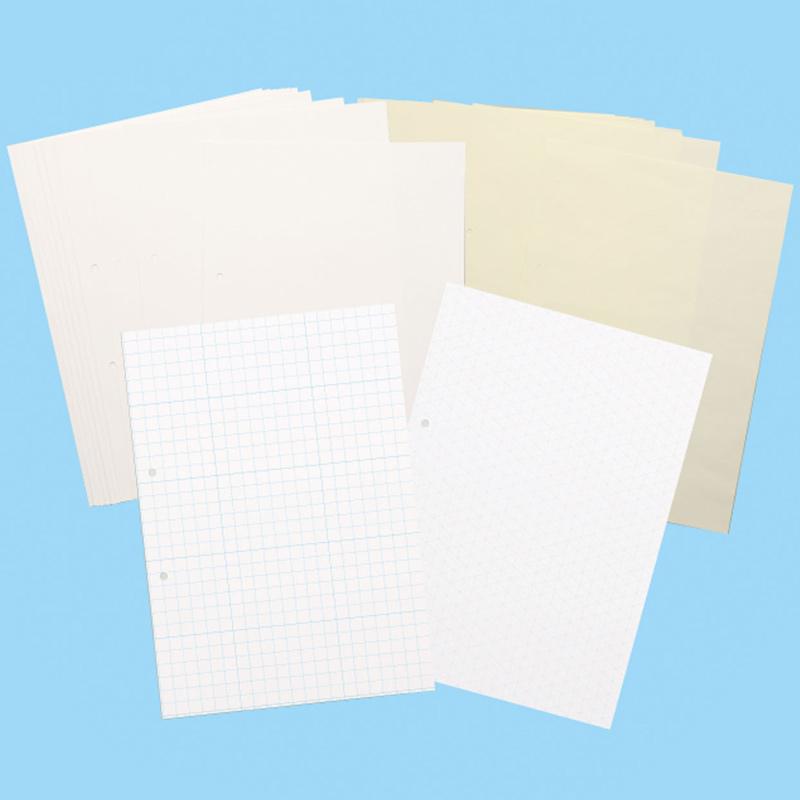 スケッチファイルペーパーセット 8切 文房具 美術 工作 小学生 中学生 夏休み 宿題 自由研究