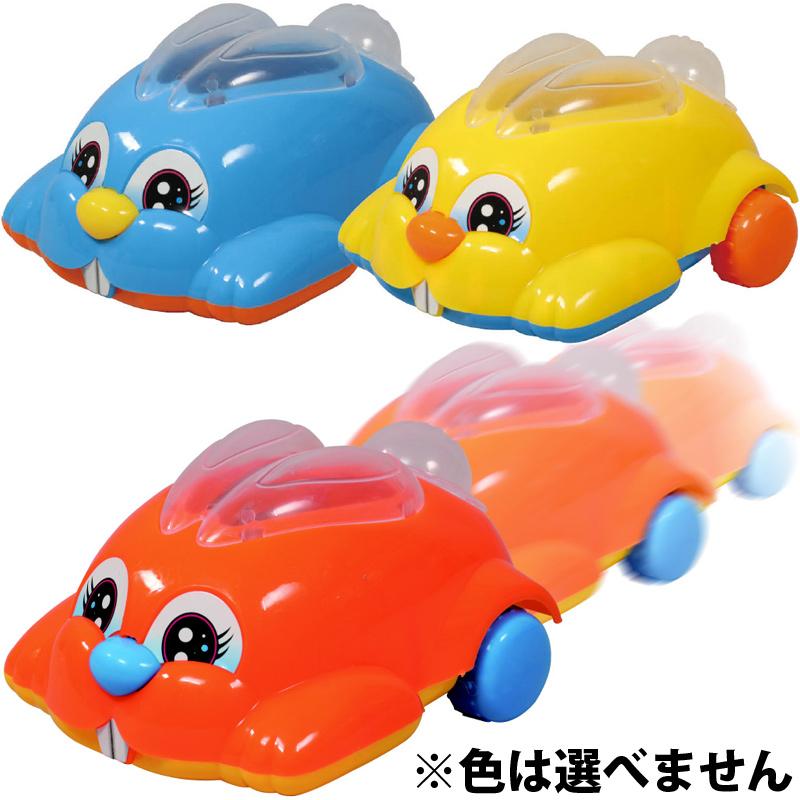リンリンラビット 車 子供 おもちゃ 幼児 キッズ 遊び 知育玩具 うさぎ ひも 引っ張る 動く クリスマスプレゼント
