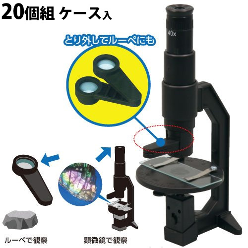 偏光 顕微鏡 20個組[ケース入] 工作 キット 実験 理科 科学 キッズ 小学生 学校 教材 備品 自由研究 知育玩具 クリスマスプレゼント