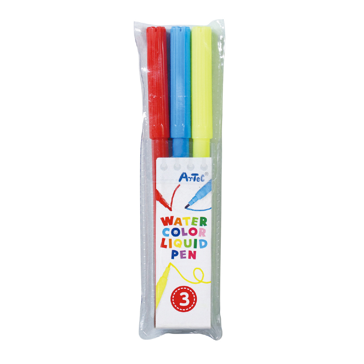水性 カラーペンセット[3色] 知育玩具 お絵かき キッズ 子供 ペン 工作 文具 景品 クリスマスプレゼント