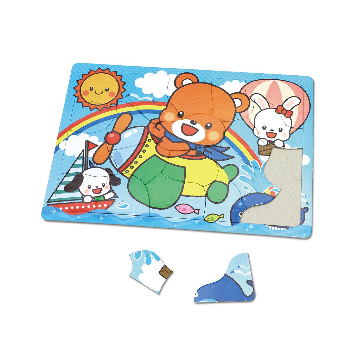 アニマルフレンズ パズル[ひこうき]20P 知育玩具 おもちゃ キッズ 子供 幼稚園 保育園 クリスマスプレゼント