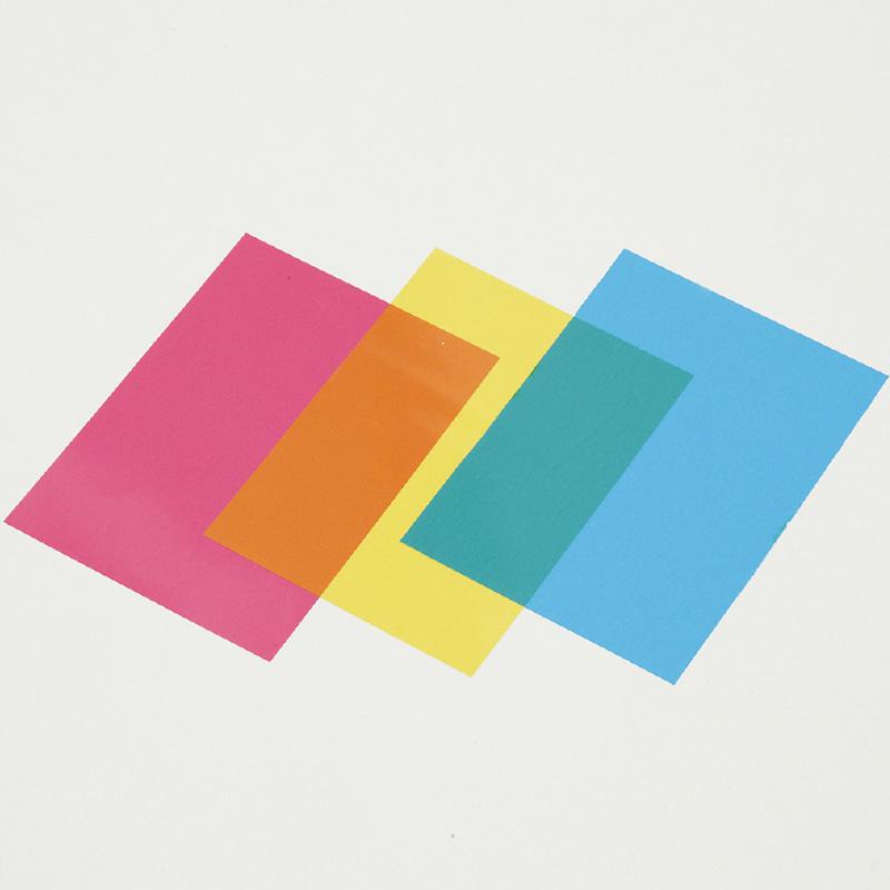 カラー セロハン3色 80×113 10個組 図工 工作 美術 画材 学校 教材 キッズ 小学生 文具 クリスマスプレゼント