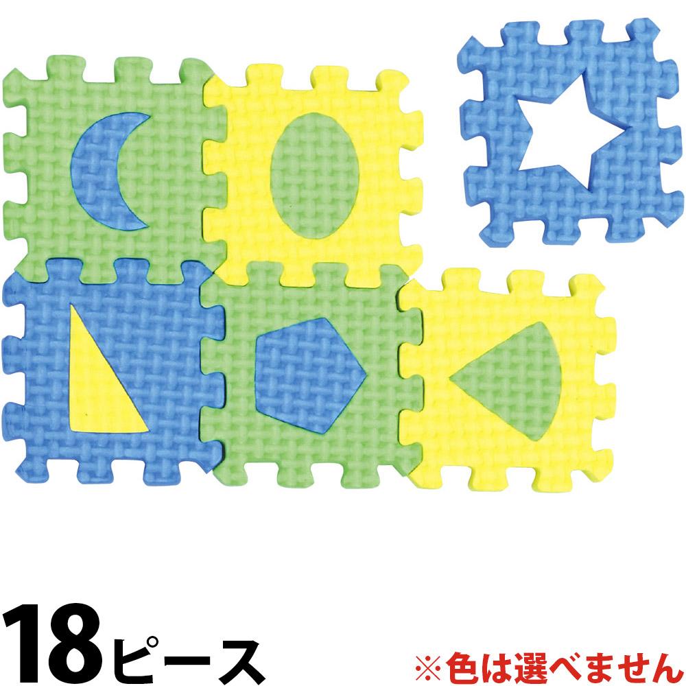 EVA ずけい パズル 幼児 18ピース ゲーム 図形 おもちゃ 知育玩具 1歳 2歳 クリスマスプレゼント