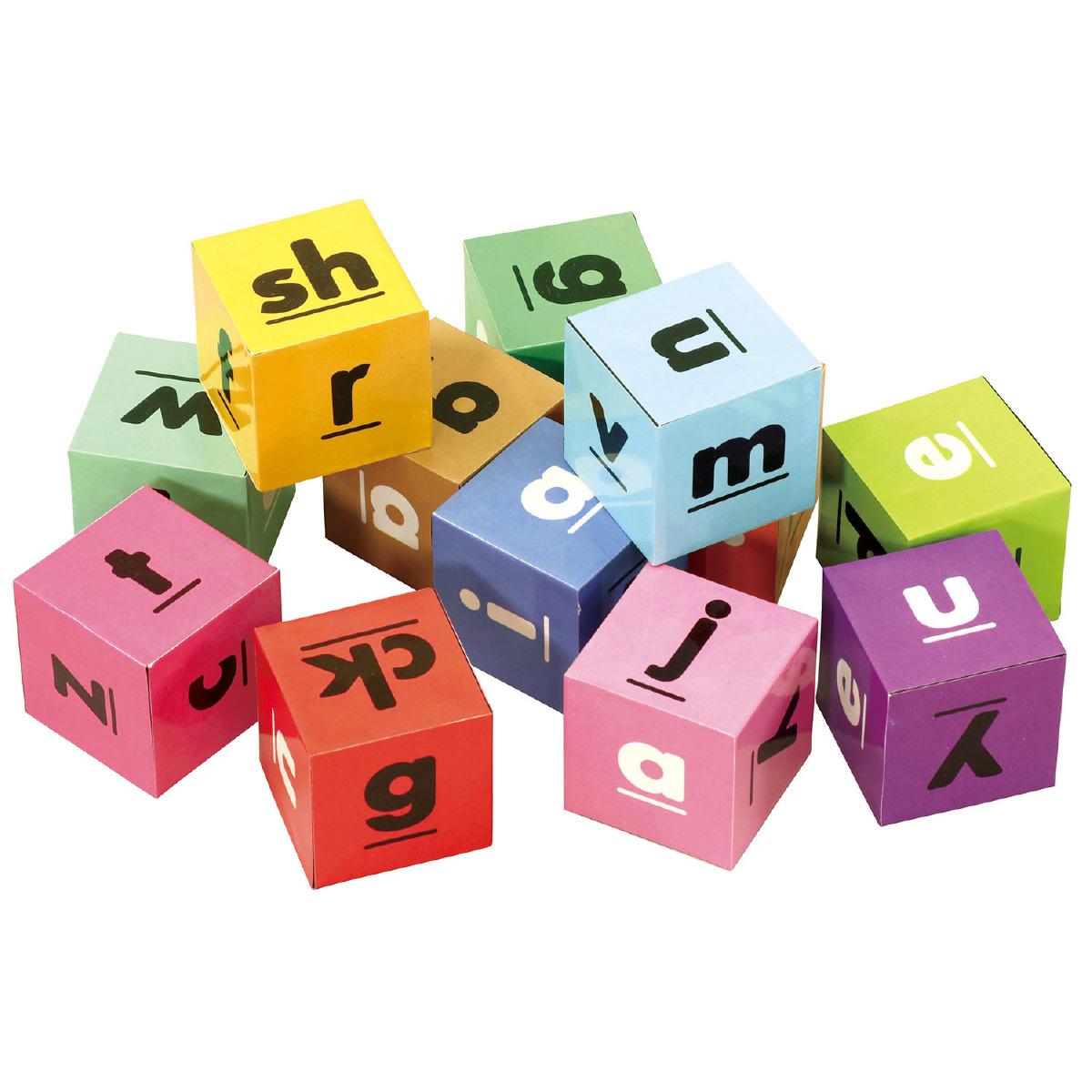 アルファベットキューブ[12pcs] 知育玩具 3歳 4歳 5歳 パズル ブロック 英語 おもちゃ