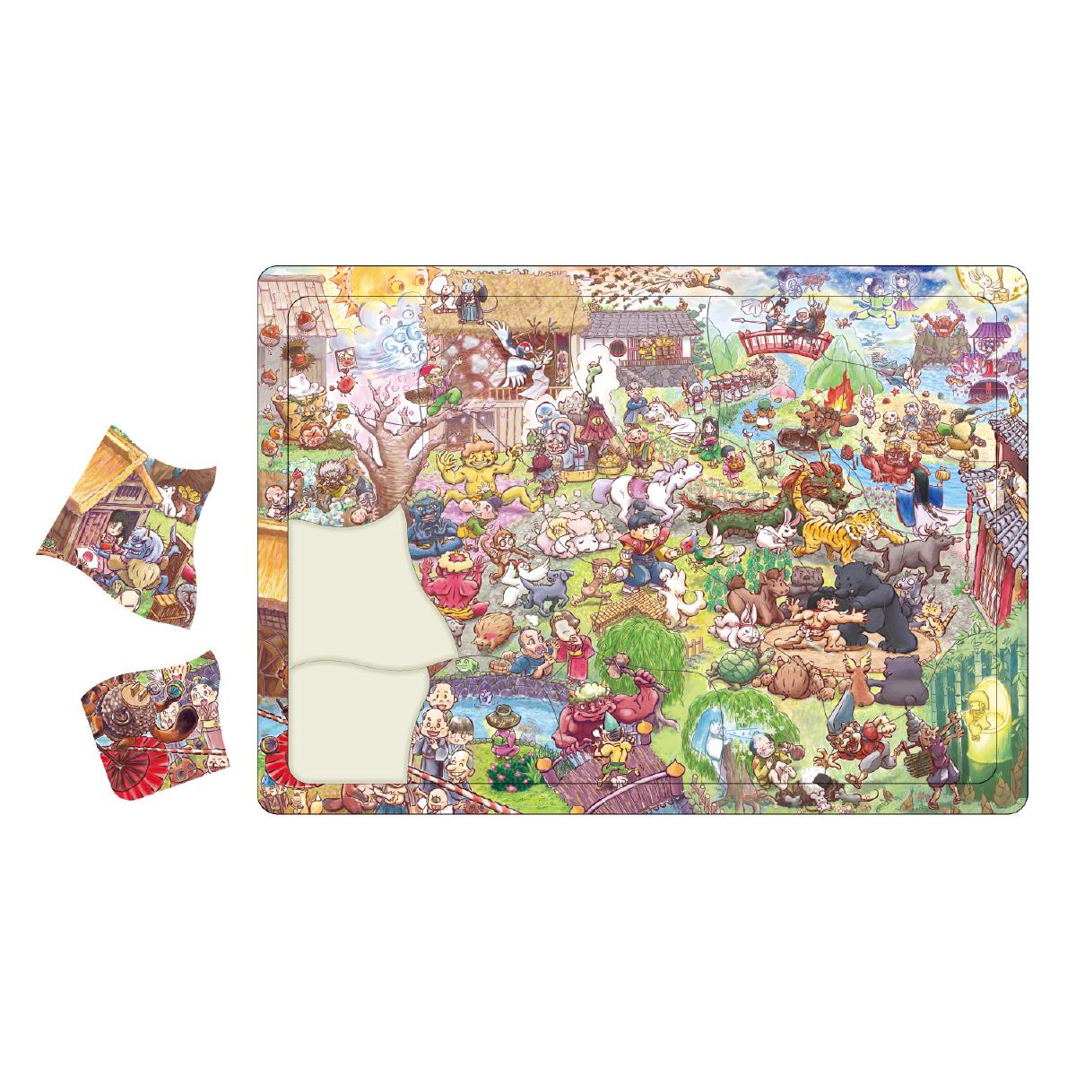 パズル 30ピース 幼児 ゲーム 31種類の昔話の登場人物 知育玩具 キッズ 子供 ジグソーパズル クリスマスプレゼント