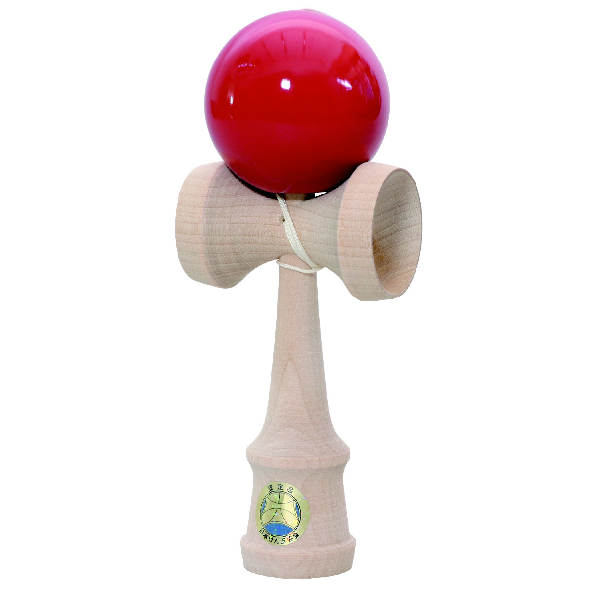 日本けん玉協会認定 けん玉 名人 匠[赤] こども用 おもちゃ 知育玩具 キッズ けんだま おしゃれ クリスマスプレゼント