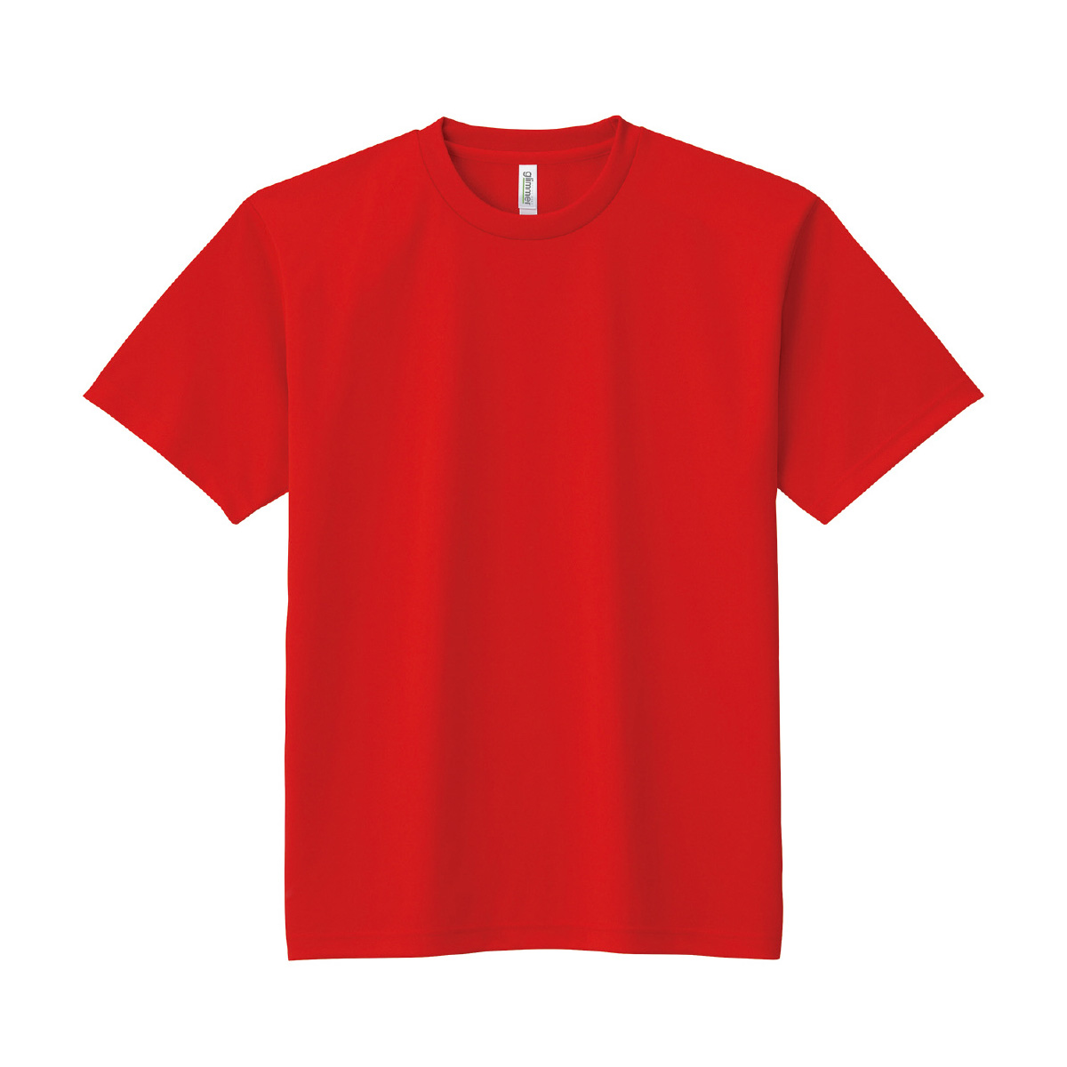 DXドライTシャツ レッド Tシャツ メンズ 速乾 半袖 レディース キッズ 子供 無地