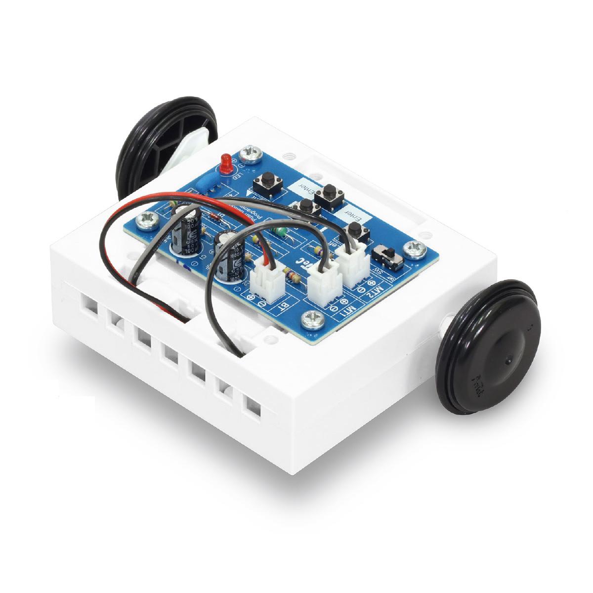 簡単ボタン 制御ロボ 基板未組立 技術 工作 ロボ パーツ 自由研究 中学生 クリスマスプレゼント