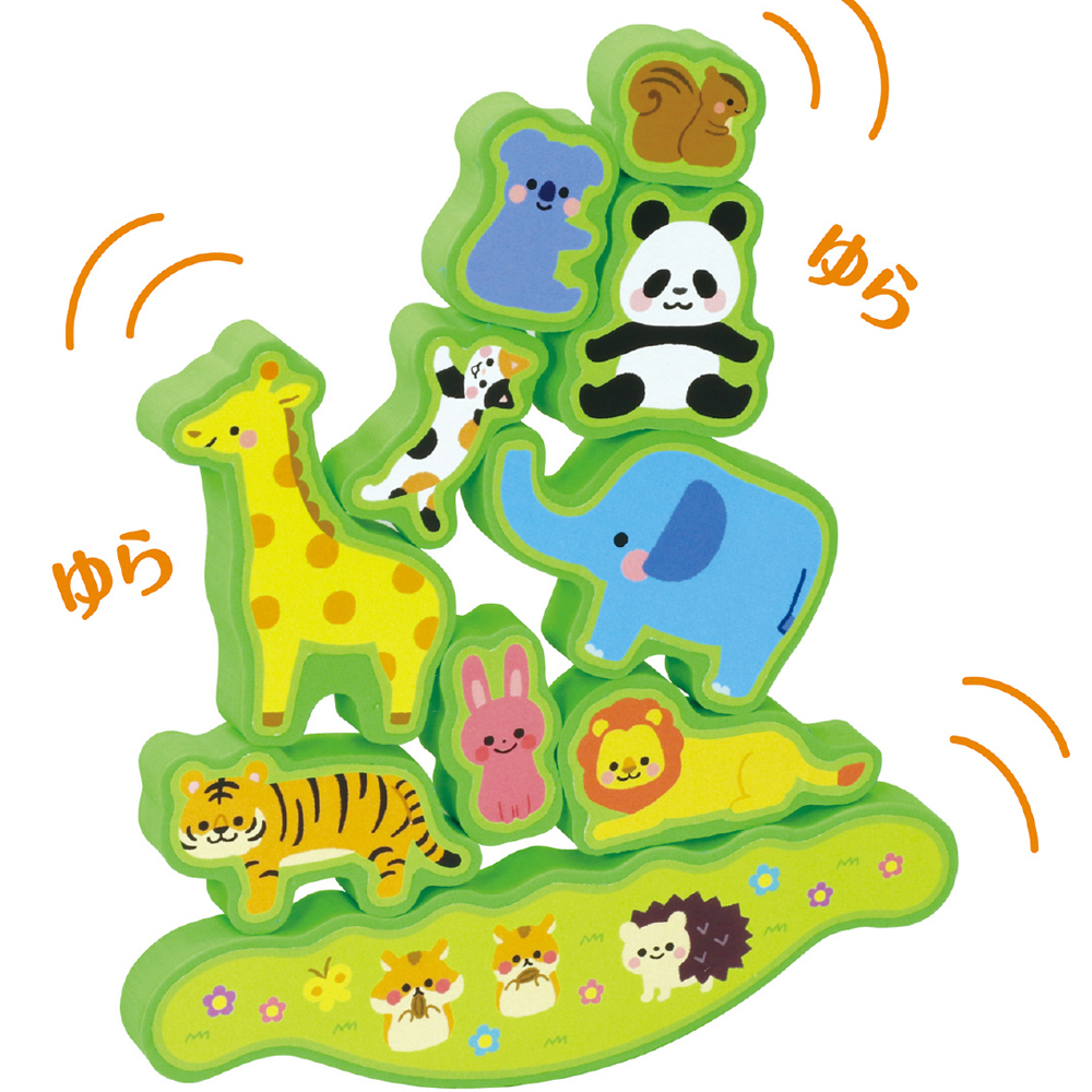 バランスゲーム ゆらゆら!どうぶつタワー 知育玩具 2歳 3歳 積み木 パズル 幼稚園 保育園 動物 おもちゃ 子供 幼児 ゲーム