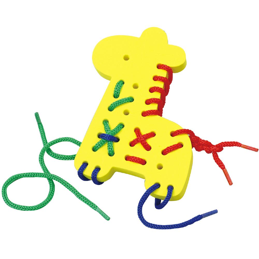 EVAひもとおし キリン おもちゃ 知育玩具 3歳 4歳 パズル ゲーム 幼児 子供 キッズ 幼稚園 保育園 紐通し遊び おすすめ