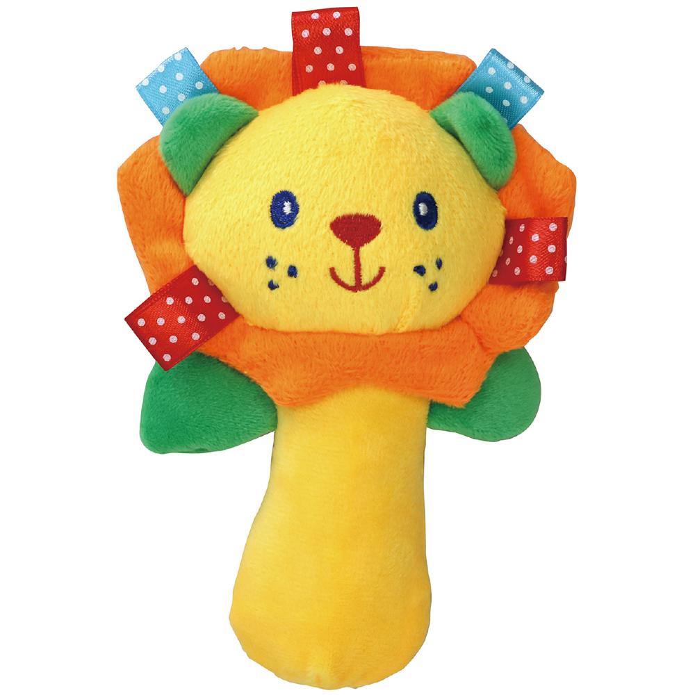 にぎにぎ人形(ライオン) ガラガラ 赤ちゃん おもちゃ 新生児 知育玩具 0歳 1歳 かわいい クリスマスプレゼント