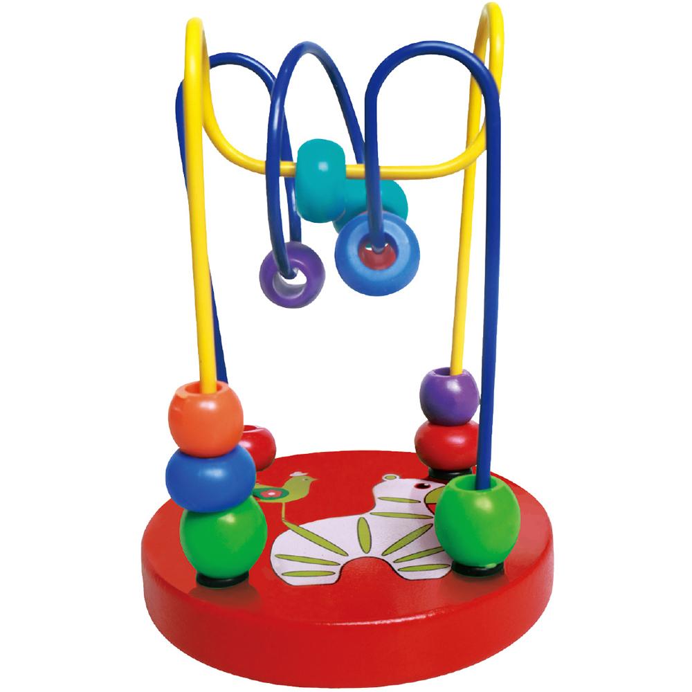 木製ルーピング 小 ビーズコースター おもちゃ 赤ちゃん 知育玩具 0歳 6ヶ月 1歳 2歳 新生児 木のおもちゃ ボール くるくる 子供 幼児 キッズ 出産祝い プレゼント 保育園 幼稚園 クリスマスプレゼント