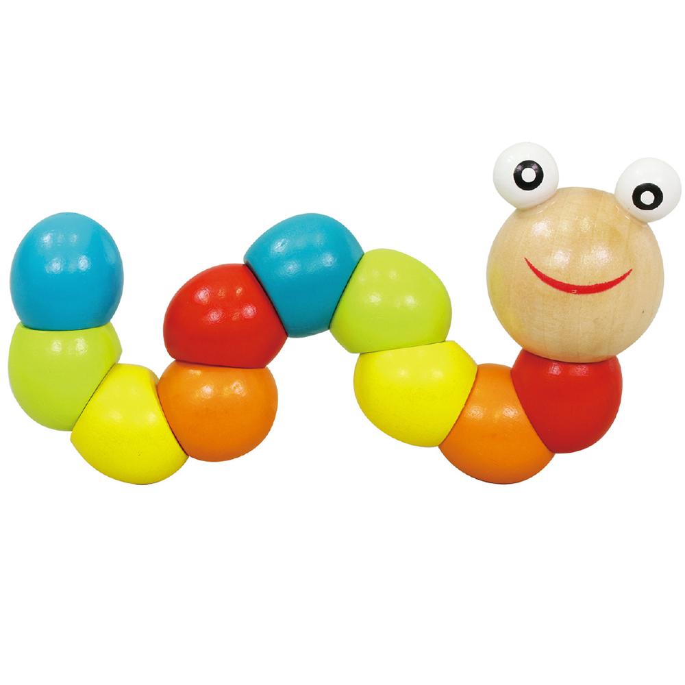 くねくねイモムシ 知育玩具 木のおもちゃ 幼児 子供 新生児 1歳 1歳半 2歳 3歳 おすすめ 男の子 女の子 クリスマスプレゼント