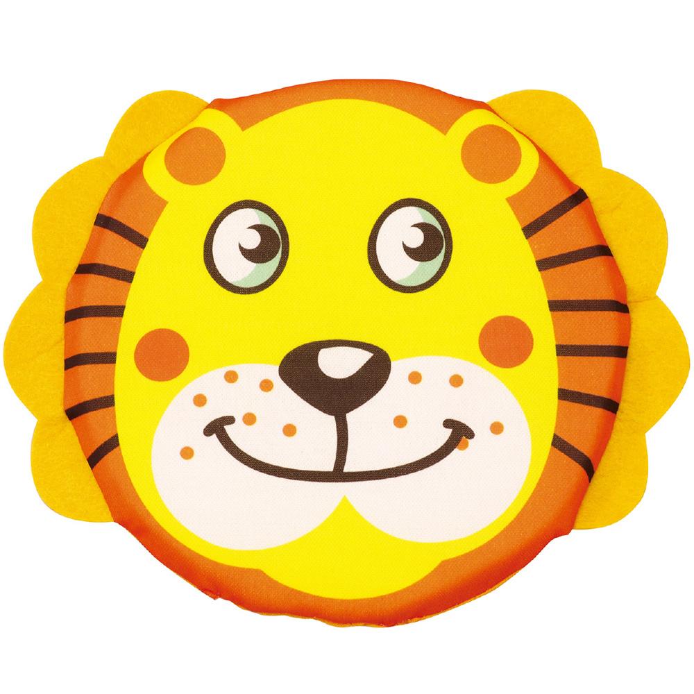 アニマルソフトディスク フリスビー やわらかい こども ソフト 知育玩具 1歳 3歳 2歳 5歳 おもちゃ 女の子 男の子 子供 ライオン らいおん 外遊び
