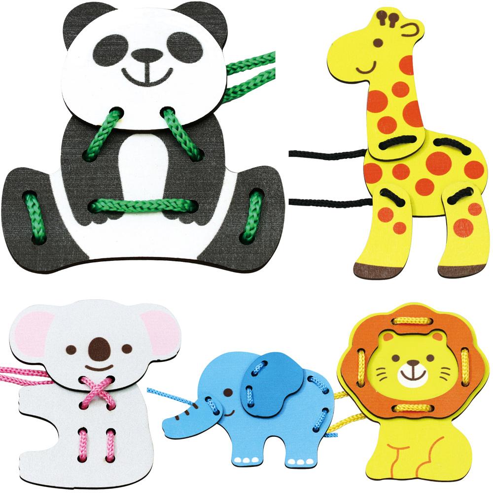 木製ひもとおし 知育玩具 1歳 3歳 2歳 5歳 おもちゃ 女の子 男の子 子供 木製玩具 紐通し 練習 動物