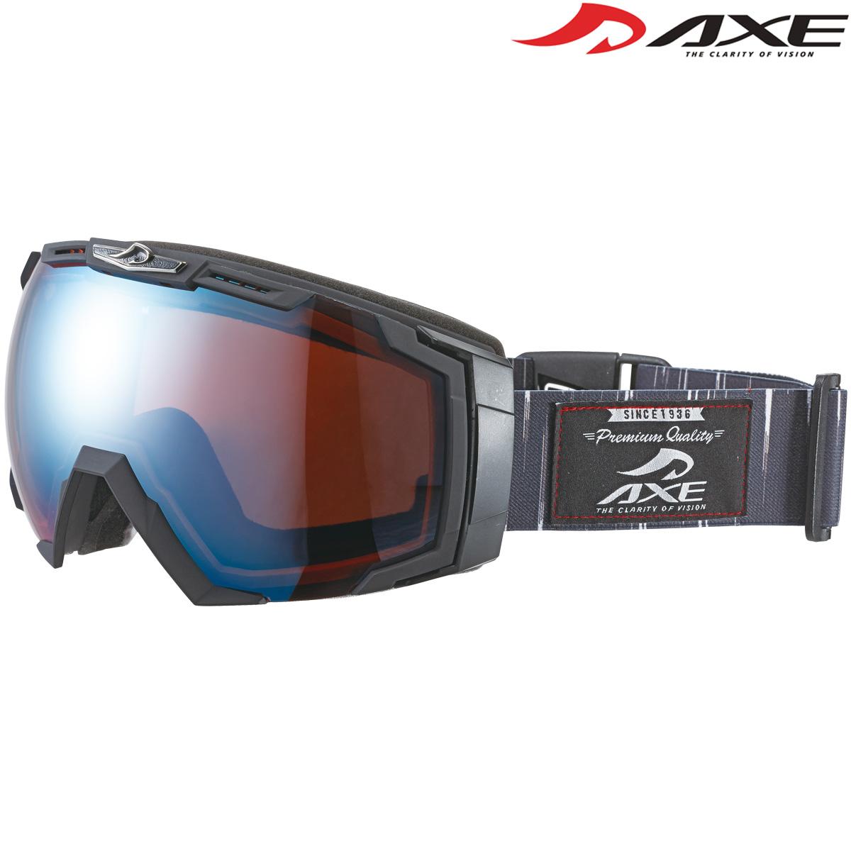 ゴーグル 眼鏡対応 スノーボード スキー ダブルレンズ ミラー 曇り止め [17-18カタログモデル] メンズ ヘルメット対応 スノーゴーグル AX770-WCM AXE アックス