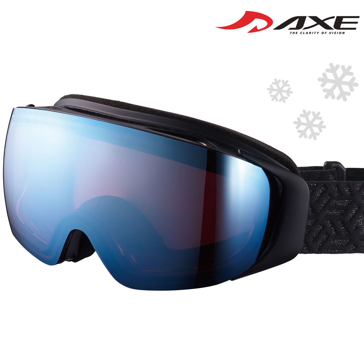 ゴーグル 眼鏡対応 ミラー スキー スノーボード AX899-HCM スノーゴーグル メガネ ダブルワイドレンズ 曇り止め機能付き AXE アックス