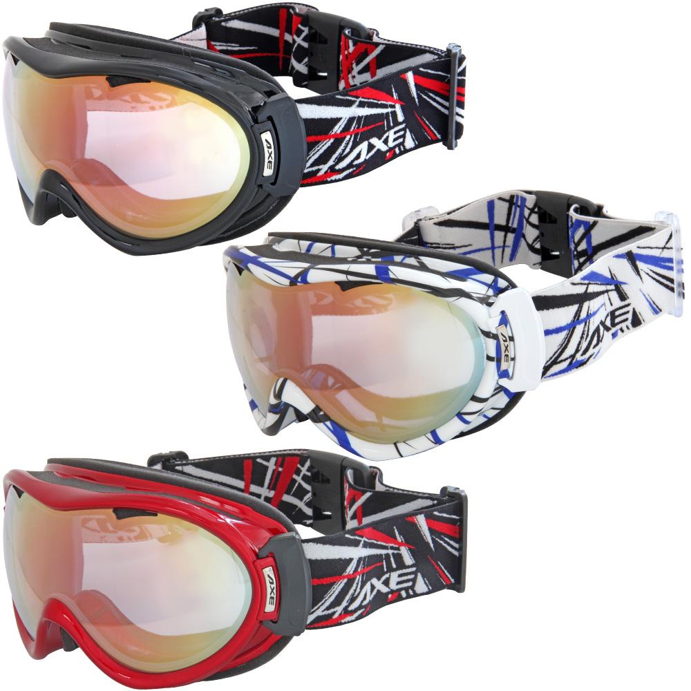 ゴーグル AXE [アックス] スキー [スノーボード] ゴーグル AX855-WCM スノーゴーグル ダブルレンズ 曇り止め加工 ダブルレンズ 曇り解消 メガネ対応 ヘルメット対応