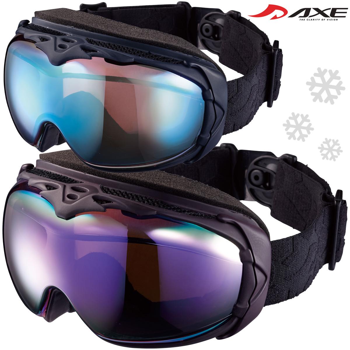 ゴーグル AXE [アックス] スキー [スノーボード] ゴーグル AX990-WCM スノーゴーグル ダブルレンズ [2019-20モデル] ダブルレンズ メンズ 曇り止め機能付き メガネ対応