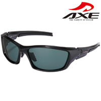 スポーツ 偏光サングラス ASP-450 UVカットUV400 シャイニーブラック AXE アックス