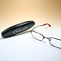 [シニアグラス] カンダオプティカルスライト2 ブラウンレッド 老眼鏡 強度 男性 おしゃれ