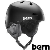 ヘルメット MACON [メーコン] HARD HAT MATTE BLACK [BLACK PREMIUM LINER] [2017-18モデル] SM22BMBLK 【ジャパンフィット】BERN 国内正規販売店 スキー スノーボード スノボ ウィンタースポーツ BMX 自転車 バイク おしゃれ かっこいい