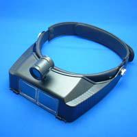ヘッドルーペ ライト付 双眼ヘッドルーペ ヘッドバンド式 1.8倍 2.3倍 3.5倍 池田レンズ