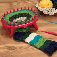 オーバルニットルーム スタンド付 57967 クロバー Clover 手芸 編み物 編み機 ニット クロバー リリアンみたいな輪編みツール おもちゃ