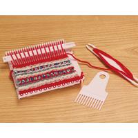クロバー ミニ織り [1台] 57968 クロバー おもちゃ Clover 手芸 編み物 編み機 ニット クロバー 手編みキット