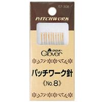 パッチワーク針No.8 57308 クロバー 縫い針 ぬい針 手芸 裁縫 ソーイング用品 洋裁 ハンドクラフト