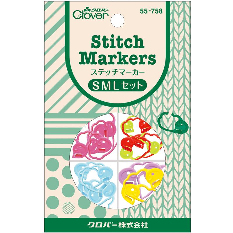 ステッチマーカーSMLセット 55758 Clover 手芸用品 編み物 刺しゅう クローバー 裁縫 趣味 ホビー 手作り