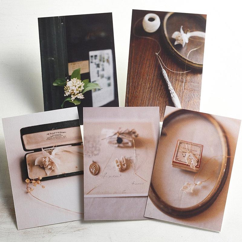 すずらんポストカード[クロッシェ・5枚セット] クロバー Anano撮影 写真 ポストカード おしゃれ 裁縫道具 趣味 ホビー クラフト