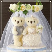 ウェディングベア ロイヤルアイボリー 68711 クロバー 結婚 記念 手作り 結婚式 ウェディング ウェディングキット 裁縫 ホビー