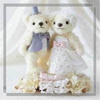 ウェディングベア タイニーフラワー 68731 クロバー 結婚 記念 手作り 結婚式 ウェディング ウェディングキット 裁縫 ホビー