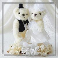 ウェディングベア スウィートフラワー 68732 クロバー 結婚 記念 手作り 結婚式 ウェディング ウェディングキット 裁縫 ホビー