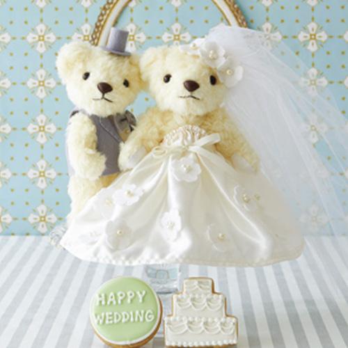 ウェディングベア ホワイトフラワー 68751 クロバー 結婚 記念 手作り 結婚式 ウェディング ウェディングキット 裁縫 ホビー