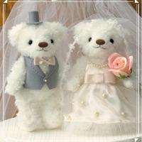 ウェディングベア キュートパール 69702 クロバー 結婚 記念 手作り 結婚式 ウェディング ウェディングキット 裁縫 ホビー