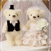 ウェディングベア エレガントパール 69703 クロバー 結婚 記念 手作り 結婚式 ウェディング ウェディングキット 裁縫 ホビー
