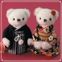 ウェディングベア 和モダン雅桜 69707 クロバー 結婚 記念 手作り 結婚式 ウェディング ウェディングキット 裁縫 ホビー