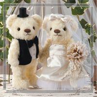ウェディングベア アンティークアイボリー 79793 クロバー 結婚 記念 手作り 結婚式 ウェディング ウェディングキット 裁縫 ホビー