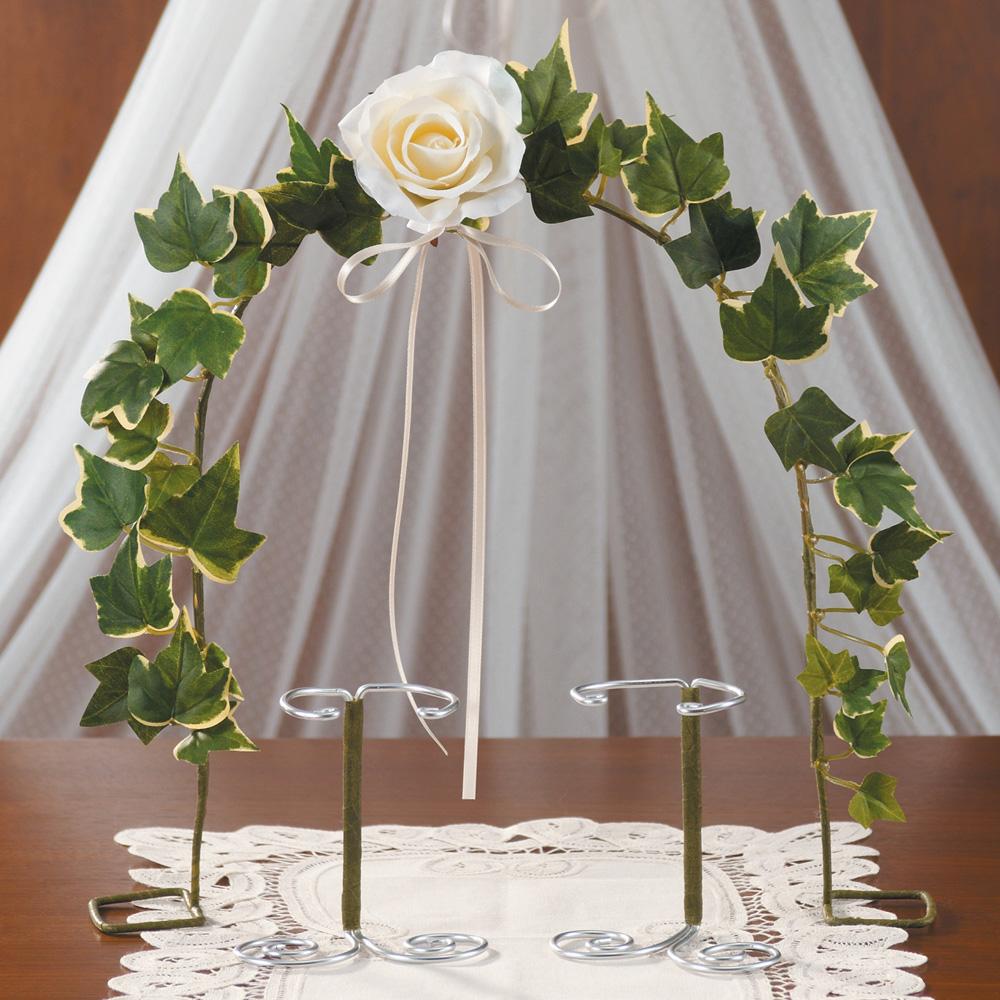 ウェディングディスプレイ アーチ&スタンド アイボリー 79797 クロバー 結婚式 飾り付け 手作り ウェディングキット 裁縫 ウェルカムスペース 会場 受付 装飾 アイデア