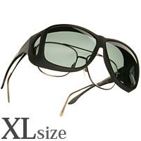 偏光 オーバーグラス ポラライズド C202G COCOONS [コクーンズ] エービーエーター[XL] メガネの上からサングラス