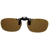 偏光サングラス クリップサングラス CP-9BR2 [フリップアップ] 偏光ブラウン2 スポルディング 偏光グラス ゴルフ UV カット 跳ね上げ メガネの上からサングラス