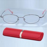 高級 老眼鏡 シニアグラス ピンク carton 男性 女性 おしゃれ