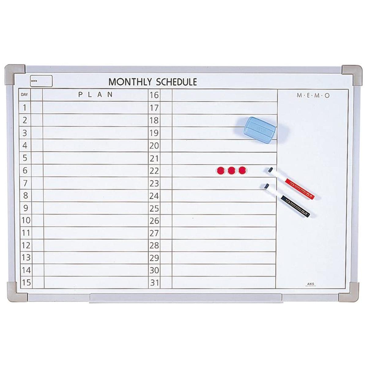 スケジュールボード LL 横書き スケュジュール管理 オフィス お店 ボード デビカ