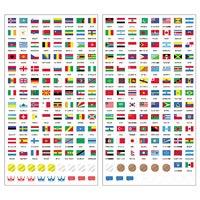 国旗シール 世界の国旗シール 地球儀 世界 社会 学習 勉強 国旗 ステッカー デビカ