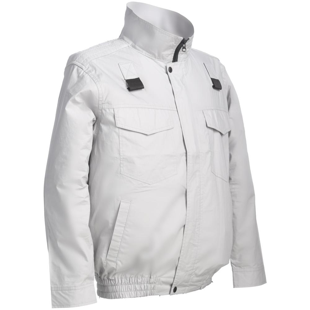 長袖ワークブルゾン 綿100% シルバーグレー フルハーネス対応服地 COOLING BLAST LX-6700WFHS 熱中症対策 空調服のように使える作業服 作業着 夏用 リンクサス