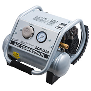 オイルレスエアーコンプレッサー SCP-04A 000657 ナカトミ 業務用 エアーコンプレッサー 持ち運び エアー 空気 塗装 DIY 工場 作業 工具