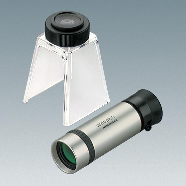 バリオプラス 単眼鏡 8倍 (至近30cm) + スタンドルーペ 24倍 エッシェンバッハ ルーペ スタンド 高倍率 作業 検査 検品 虫眼鏡